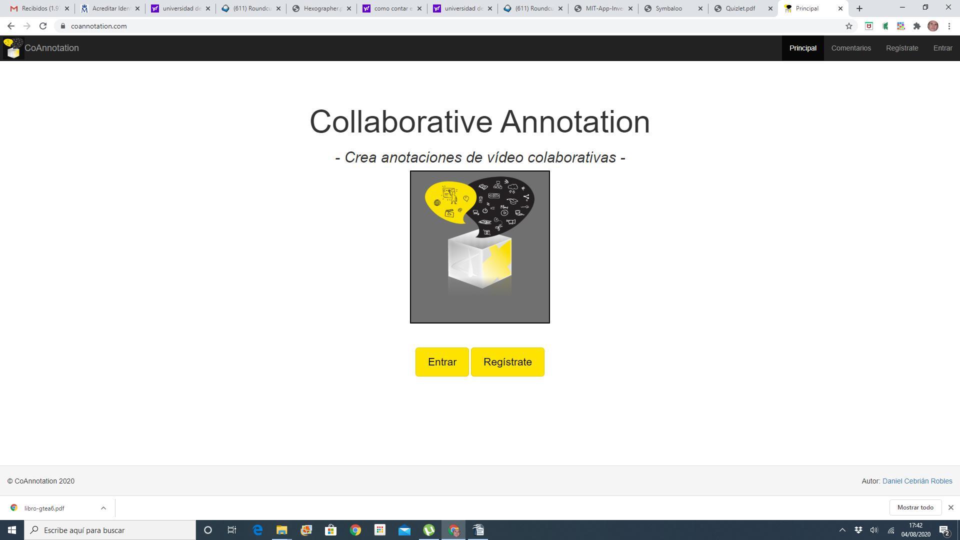 Acceso a la herramienta Coannotation.com