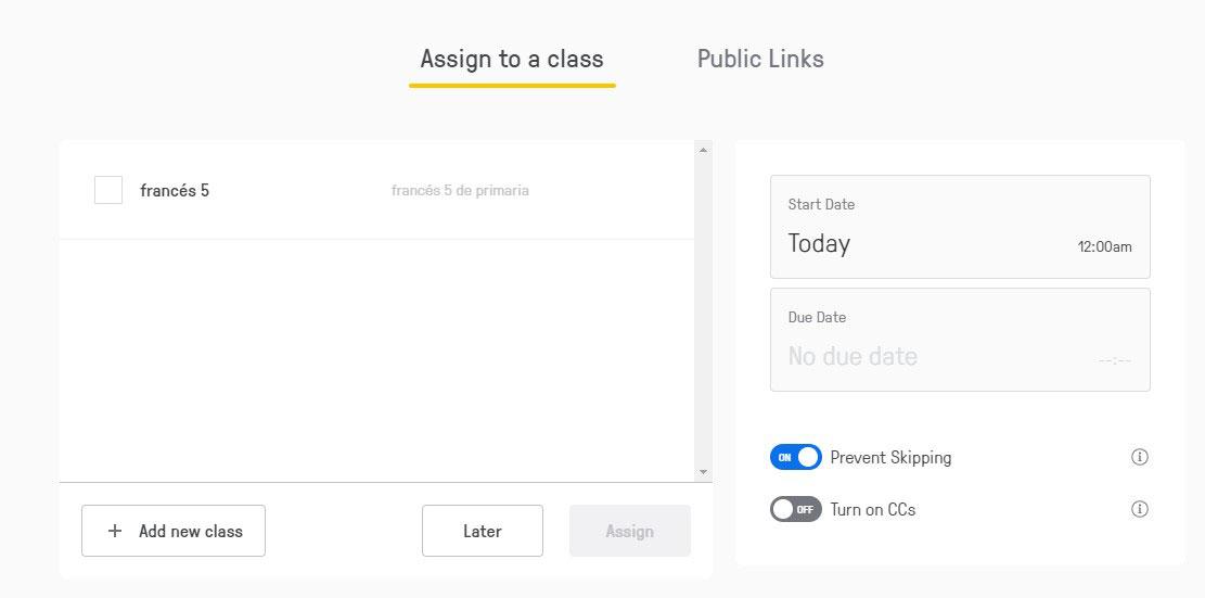 Asignación de vídeos a clases con Edpuzzle