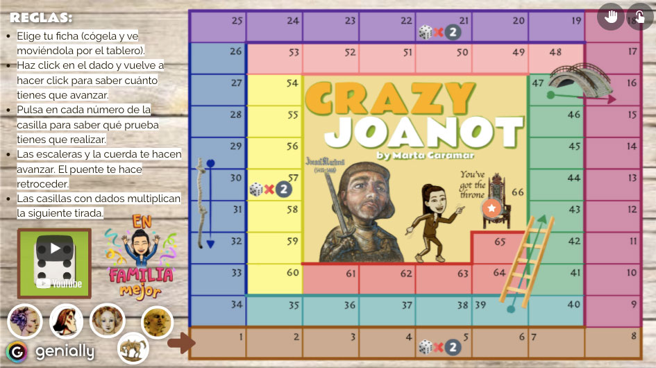 "Tablero familiar ""Crazy Joanot"""