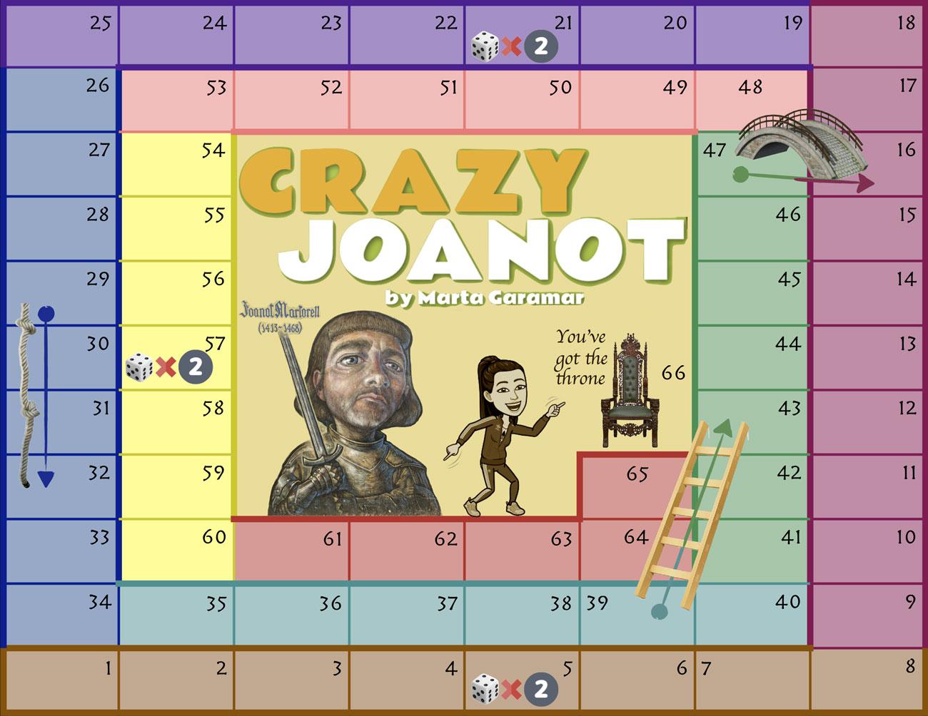 "Tablero familiar ""Crazy Joanot""."