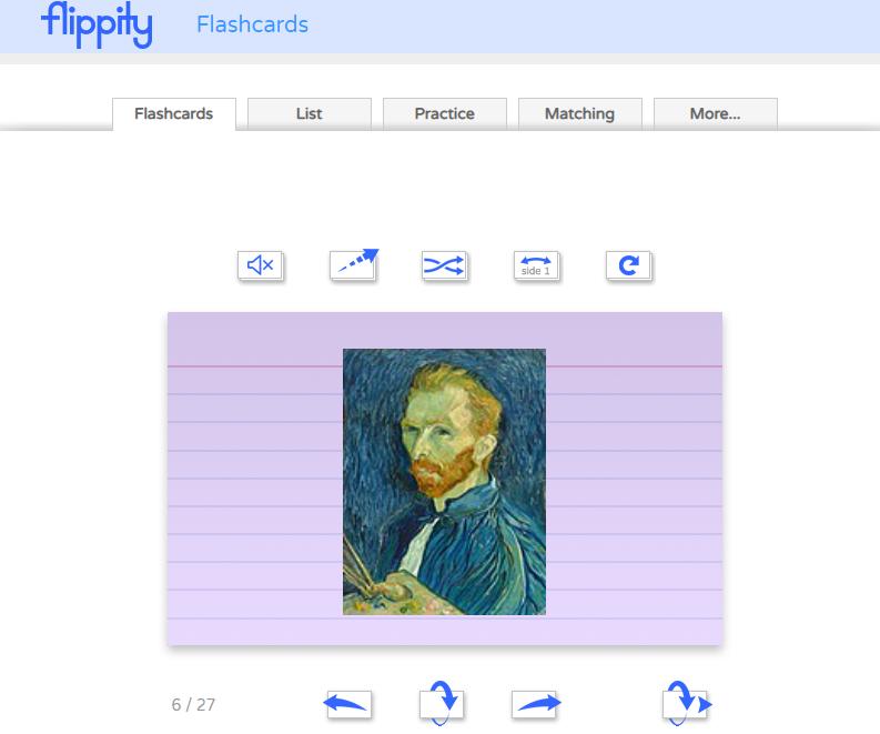 Flashcards permite escuchar la palabra, incluir imágenes y video