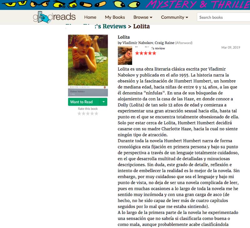 Crítica-reseña publicada por una alumna.
