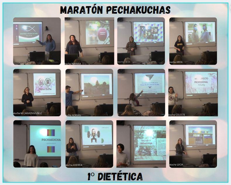"""""""Maratón de Pechakuchas"""" de los proyectos profesionales del alumnado de 1º."""