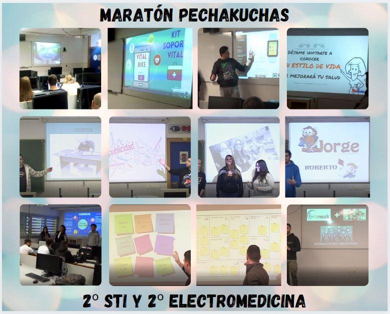 """""""Maratón de Pechakuchas"""" de los modelos de negocio del alumnado de 2º."""