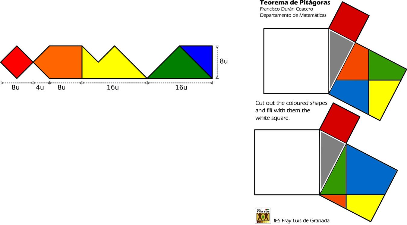 Ejemplo de puzle para el tratamiento del Teorema de Pitágoras.