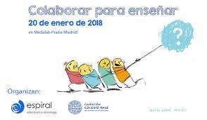"""Cartel encuentro anual """"Colaborar para enseñar""""."""