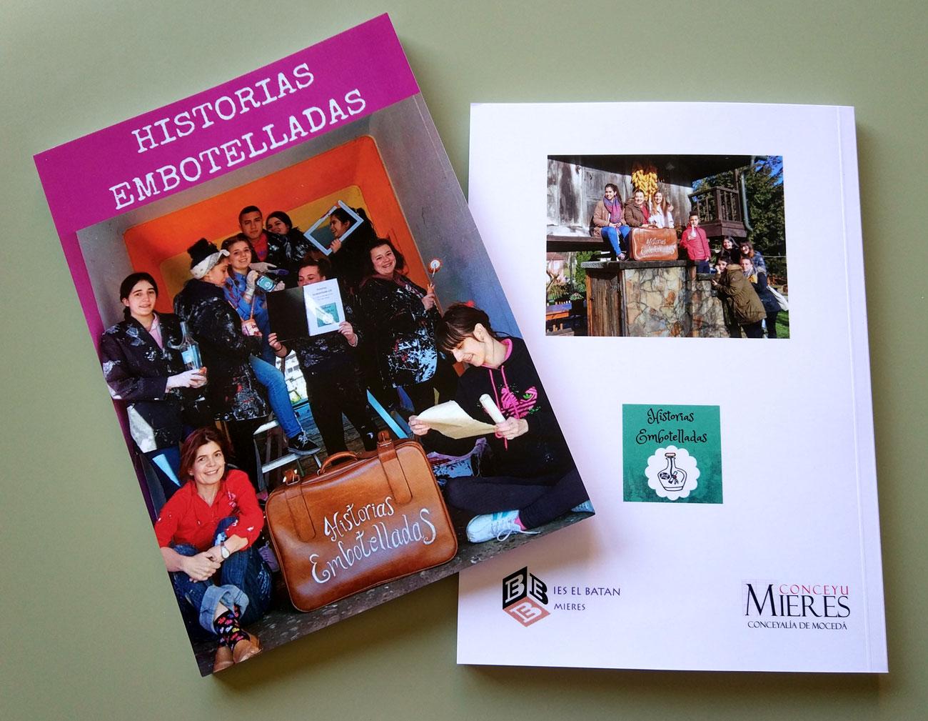 Ejemplar del libro del proyecto Historias Embotelladas 2.0.