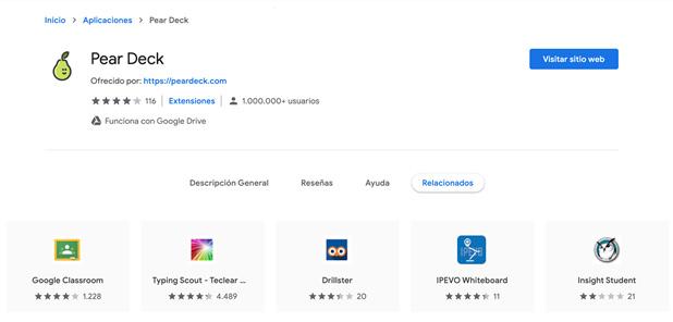 Imagen 3: Aplicación Chrome Web Store.