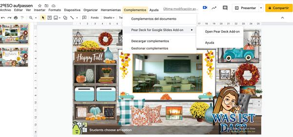 Imagen 4: Ejecutar complemento desde Google Slides.