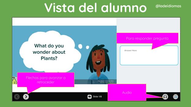 Imagen 9. Vista del alumno/a.