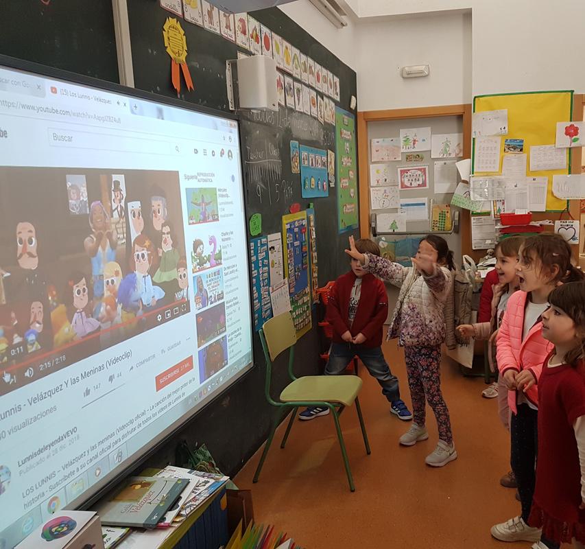Aprendimos la canción de Velázquez y Las meninas.