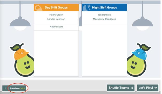 Imagen 14. Se crean dos equipos: turno de día y turno de noche.