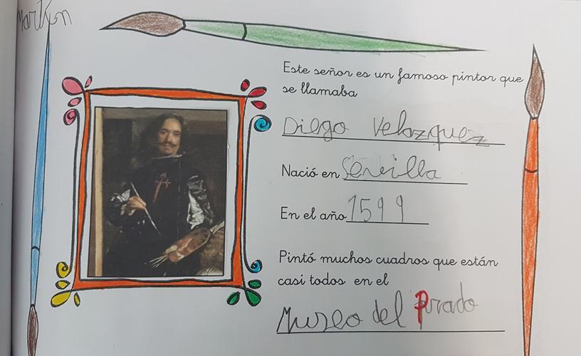 Completamos ficha de datos sobre Velázquez.