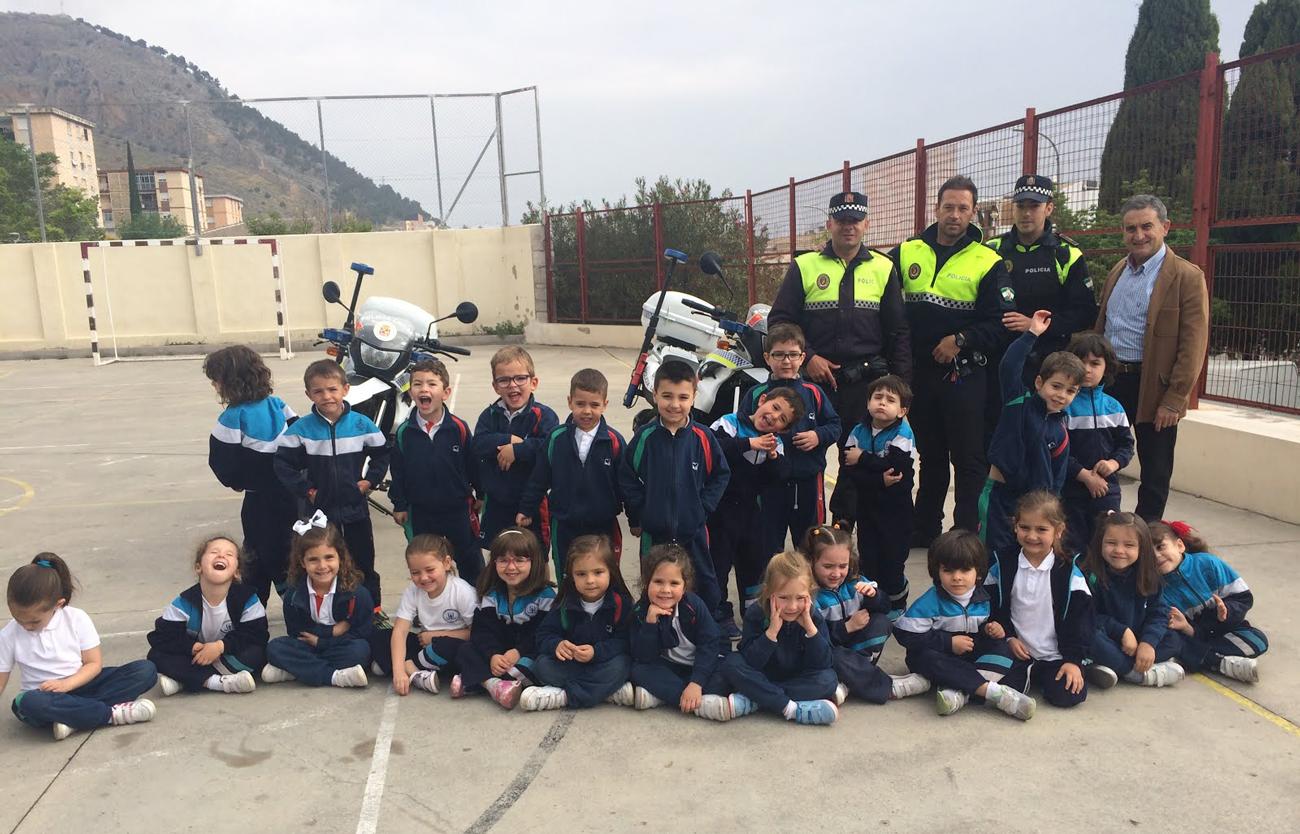 Foto con la Policía Local de Jaén.